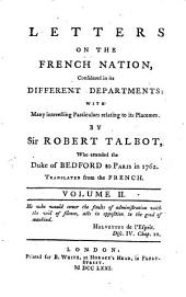Letters on the French Nation: Volume 2