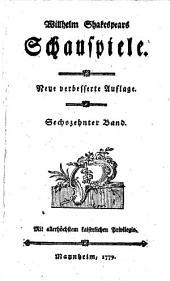 Schauspiele: König Heinrich IV, Theil 1 und 2, Band 16