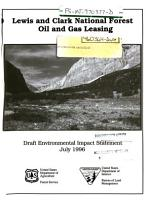 Lewis and Clark National Forest  N F    Oil and Gas Leasing PDF