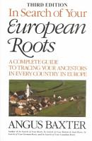 In Search of Your European Roots PDF