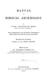 Manual of Biblical Archaeology: Band 1