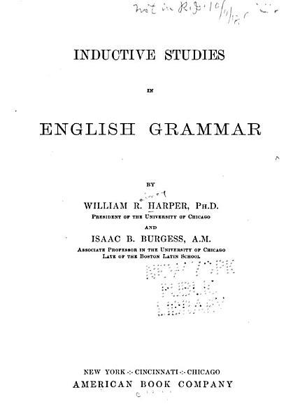 Inductive Studies in English Grammar PDF