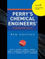 PERRY S CHEMICAL ENGINEER S HANDBOOK 8 E SECTION 5 HEAT   MASS TRANSFER  POD  PDF