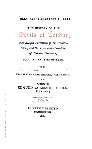 Download History of the Devils of Loudun Book