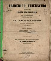 Commentatio de emendanda ratione librorum M. Terentii Varronis de lingua latina