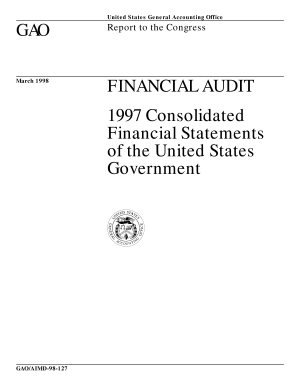 Financial audit  Consolidated financial statements of the United States government report to the Congress  PDF
