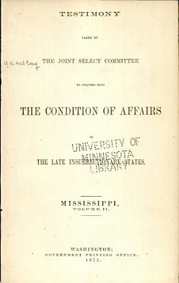 Report of and Testimony