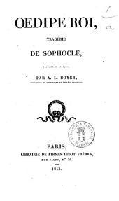 Oedipe roi tragedie de Sophocle