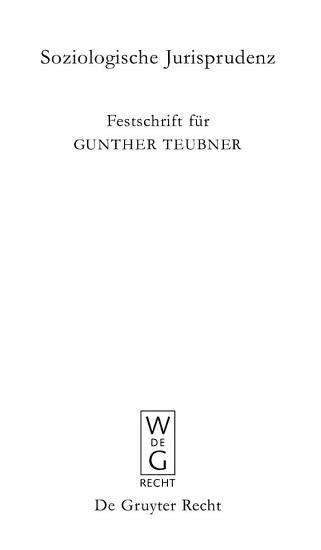 SOZIOLOGISCHE JURISPRUDENZ PDF