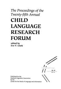 The Proceedings of the     Annual Child Language Research Forum PDF