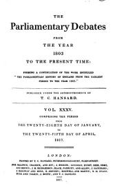 Parliamentary Debates: Official Report : ... Session of the ... Parliament of the United Kingdom of Great Britain and Ireland, Volume 35