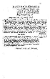 Missive van gecommitteerde raaden met een rapport van geëmployeerden tot inspectie der oevers van de Nieuwkoopsche Poel [...]. 20 january 1778