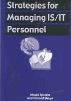 Strategies for Managing IS IT Personnel PDF