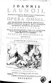 Joannis Launoii Opera omnia: Volume 2, Part 2