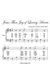 Jesus Thou Joy of Loving Hearts Easy Piano Sheet Music