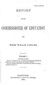 Annual Report of the Commissioner of Education: Volume 1