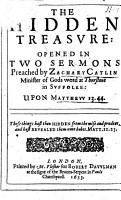 The Hidden Treasure  Opened in Two Sermons  Etc PDF