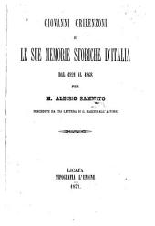 Giovanni Grilenzoni e le sue memorie storiche d'Italia dal 1821 al 1868