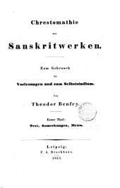 Handbuch der Sanskritsprache. 2 Abtheil. [in 3 pt.].