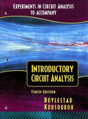 Experiments in Circuit Analysis to Accompany Introductory Circuit Analysis PDF