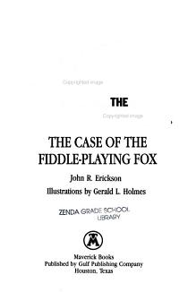 The Case of the Fiddle playing Fox PDF