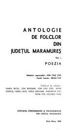 Antologie de folclor din jude  ul Maramure    Poezia PDF