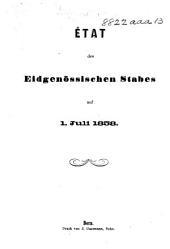 État des Eidgenössischen Stabes auf 1. Juli 1858
