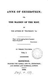 Anne of Geierstein; Or, The Maiden of the Mist: Volume 1