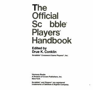 The Official Scrabble Players Handbook PDF