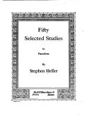 Fifty selected studies for pianoforte