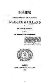 Poesies Languedociennes et Françaises d'A. G. dit Lou Roudié de Rabastens, publiées par G. de Clausade