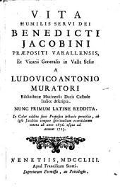 Vita humilis servi Dei Benedicti Jacobini Praepositi Varallensis et Vicarii Generalis in Valle Sesiae