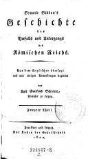 Gibbon s Geschichte des Verfalls und Untergangs des R  mischen Reichs   Zweyter Theil PDF