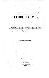 Código civil promulgado el 9 de abril de 1904