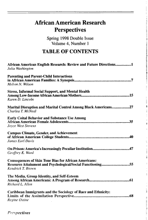 African American Research Perspectives PDF
