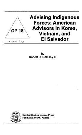 Advising Indigenous Forces PDF