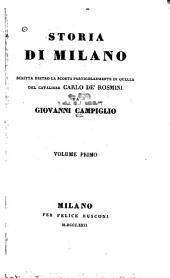 Storia di Milano: scritta dietro la scorta particolarmente di quella del cavaliere Carlo de' Rosmini, Volumi 1-2