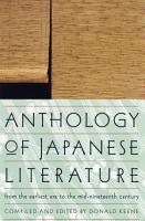 Anthology of Japanese Literature PDF