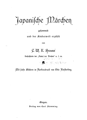 Japanische m  rchen gesammelt und der kinderwelt erz  hlt von C W E  Brauns     PDF