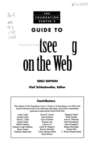 The Foundation Center s Guide to Grantseeking on the Web PDF