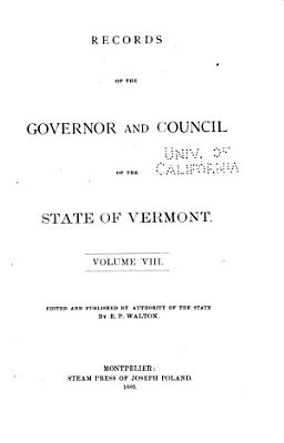 Records of the Governor and Council of the State of Vermont  Record of the Governor and Council  1831 1836 PDF