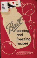 Ball Canning And Freezing Recipes Book PDF