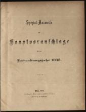 Hauptvoranschlag der Stadt Wien für das Verwaltungsjahr ...