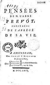 Pensées de M. l'abbé Prévôt