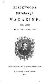 Blackwood's Edinburgh Magazine: Volume 67