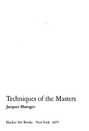 The Secret Formulas and Techniques of the Masters