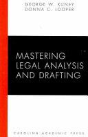 Mastering Legal Analysis and Drafting PDF