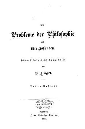 Die Probleme der Philosophie und ihre Losungen PDF