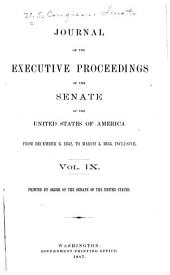 Journal of the Executive Proceedings of the Senate of the United States: Volume 9