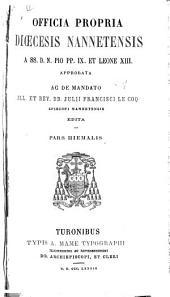 Officia propria diœcesis Nannetensis